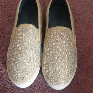 Shoes - Bedazzled slip ons